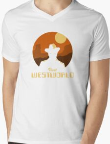 Visit Westworld Mens V-Neck T-Shirt
