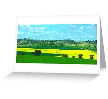 Canola Crop near Cowra NSW Greeting Card