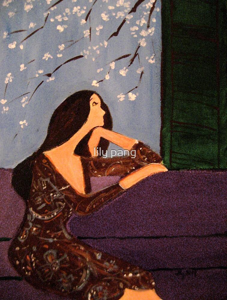 Dreaming Girl Original Acrylic Painting by lily pang