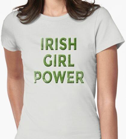IRISH GIRL POWER WEATHERED Womens Fitted T-Shirt