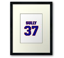 National football player Ivory Sully jersey 37 Framed Print