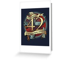 42 Greeting Card