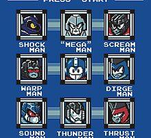 8-bit Transformers/Megaman Shirt (Decepticon) by Sweet101