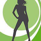 retrogirl green by Micheline Kanzy
