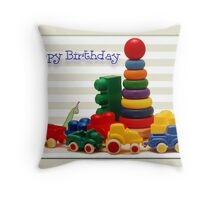 Little Boy's Birthday Card Throw Pillow