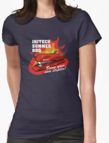 Initech Summer BBQ Womens Fitted T-Shirt