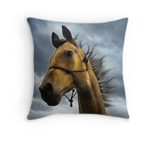 gold with the wind Throw Pillow