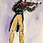 The violinist by Solotry