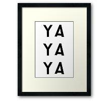 """South Park Lorde """"Ya Ya Ya"""" Framed Print"""