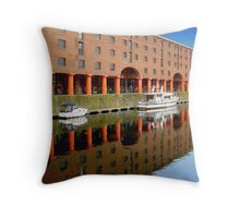 Reflections at Albert Dock 3 Throw Pillow