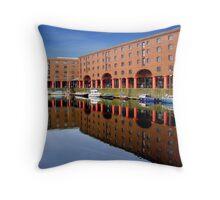 Reflections at Albert Dock 4 Throw Pillow