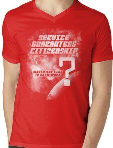 Service Guarantees Citizenship Mens V-Neck T-Shirt