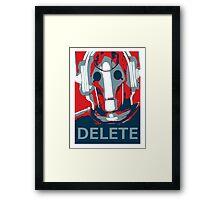 Delete Framed Print