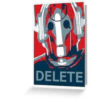 Delete Greeting Card