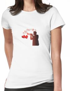 saxophone player  Womens Fitted T-Shirt
