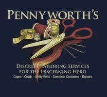 Pennyworth's - The Super Hero's Tailor Kids Tee