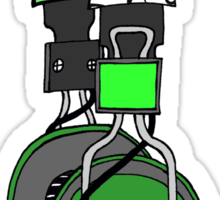Edzemo Headphones in Green Sticker