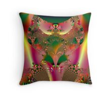 Gardener At Rest  - Franken Fractals Original  Art Print Throw Pillow
