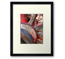 Red wagon dreams Framed Print