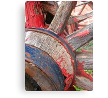 Red wagon dreams Metal Print