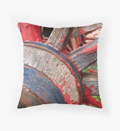 Red wagon dreams Throw Pillow