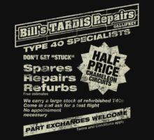 Bill's Tardis Repairs Kids Tee