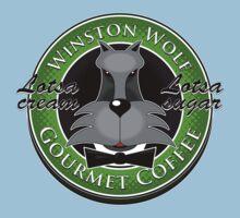 Winston Wolf: Gourmet Coffee. Kids Tee