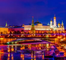 Panoramic View Of Moscow Kremlin Sticker