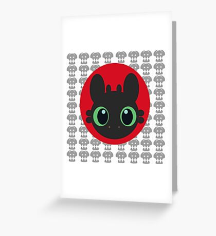Toothless V.2 Greeting Card