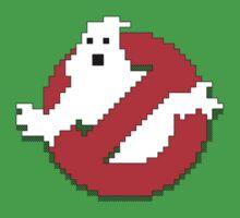 8 bit Ghostbusters logo. Kids Tee
