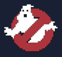 8 bit Ghostbusters logo. Kids Clothes