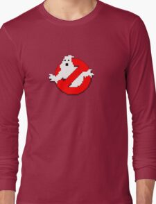 8 bit Ghostbusters logo. Long Sleeve T-Shirt