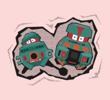 Black Hole Bots Kids Tee