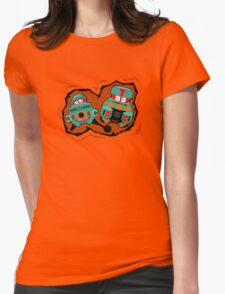 Black Hole Bots Womens Fitted T-Shirt