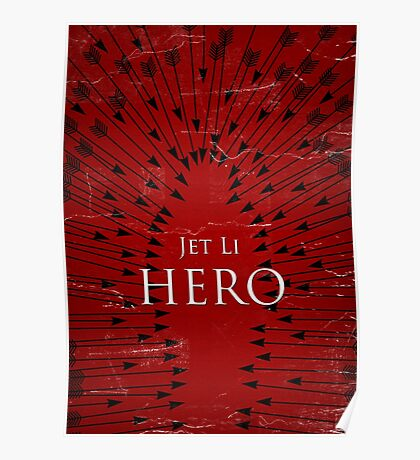 Hero - Red Poster