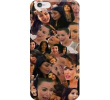 Kim kardashian crying collage iPhone Case/Skin