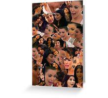 Kim kardashian crying collage Greeting Card