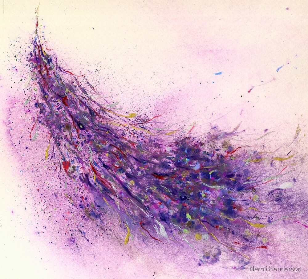 Flurry water colour abstract by Neroli Henderson