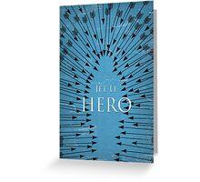 Hero - Blue Greeting Card