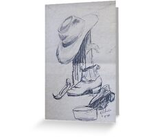 Man on the land Greeting Card