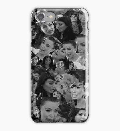 Kim kardashian crying collage iPhone Case/Skin