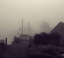 Boat on the Caledonian Canal by Tez Watson