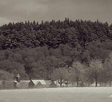 Logie Steading in Winter by Tez Watson