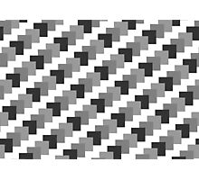 Retro Black and White Pattern Photographic Print