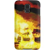 Bombardment of Algiers by Lord Exmouth in August 1816 - all products bar duvet Samsung Galaxy Case/Skin