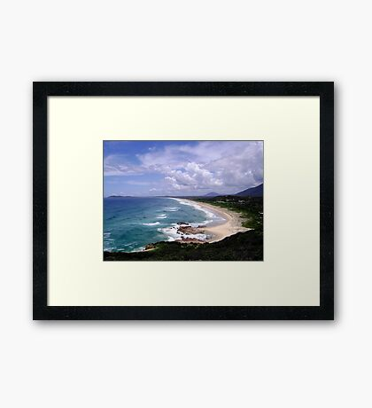 Up North on the East Coast looking South (New South Wales) Framed Print