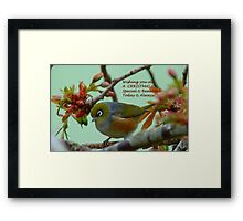 Special & Beautiful - Christmas Greeting Card - NZ Framed Print