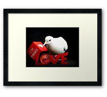 Always Make Time For Love - White Dove - NZ Framed Print
