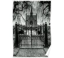 Gate to cemetary Poster
