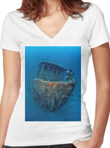 Dreamboat Women's Fitted V-Neck T-Shirt